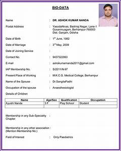 how to write a biodata for marriage perfect resume format With how to make biodata