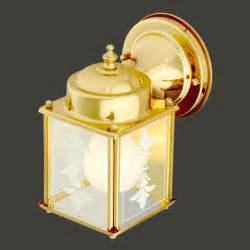 "Wall Light Bright Brass Outdoor Light Captain's Lamp 7""h"