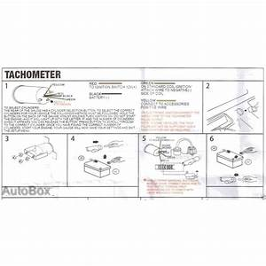 Autotecnica Tachometer Tacho Gauge Electronic Analog 0