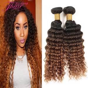 Vip Beauty Hair Brazilian Deep Curly 2 Bundles #1B 4 30