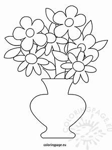 Free coloring pages of flower pot out line