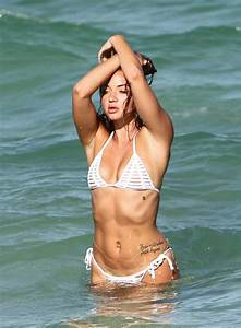 Erika Costell Does A Bikini Photo Shoot At The Beach In