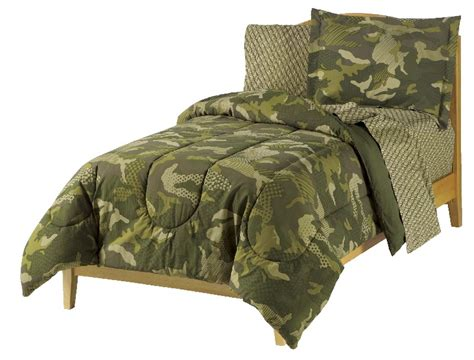 new camo camouflage army green boy bedding twin or full