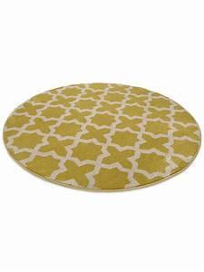 Benuta Teppich Rund : benuta teppich rund arabesque gelb 60002845 geometrisch ornament rund esszimmer ebay ~ Indierocktalk.com Haus und Dekorationen