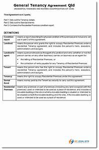 queensland rental agreement general tenancy agreement qld With tenants in common agreement template