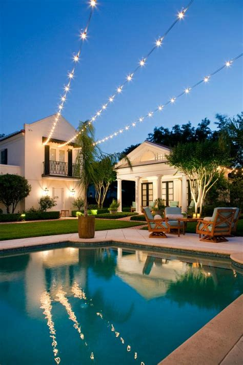string lights pool 10 ways to up your outdoor space with string lights