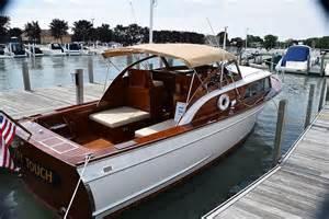 Wooden Cabin Cruiser Boat for Sale