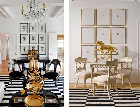 Gold And White Living Room