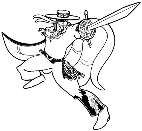 zorro coloring pages coloring pages