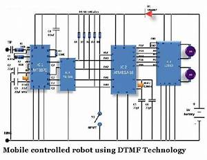 Mobile Controlled Robot Using Dtmf Technology Circuit