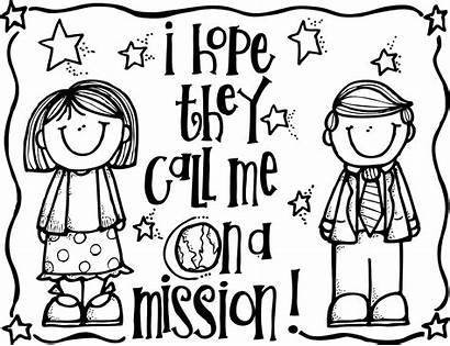Coloring Lds Hope Call Mission Missionary Pages