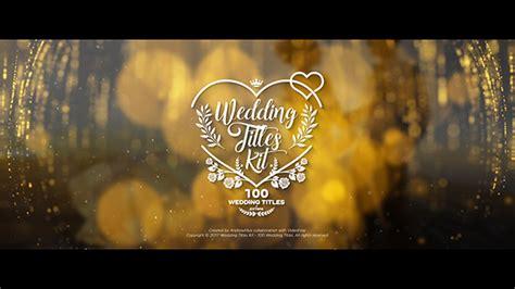 wedding titles kit  titles titles  effects