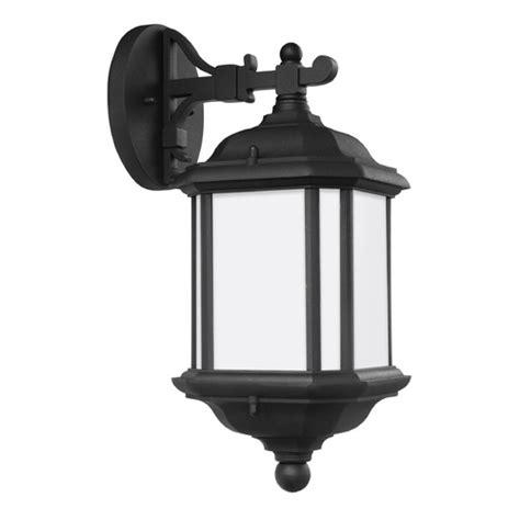 sea gull kent black outdoor wall light 84530 12