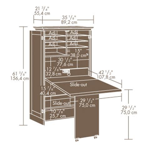 Sauder Sewing Craft Cabinet by Sauder 158097 Harbor View Sewing Craft Armoire The