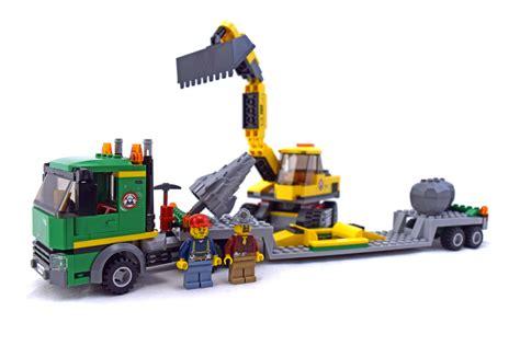 excavator transporter lego set   building sets city construction