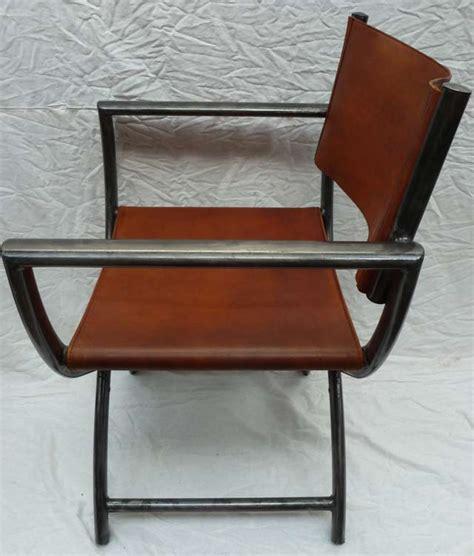 fauteuils pliants aluminium et cuir madebymed fauteuil