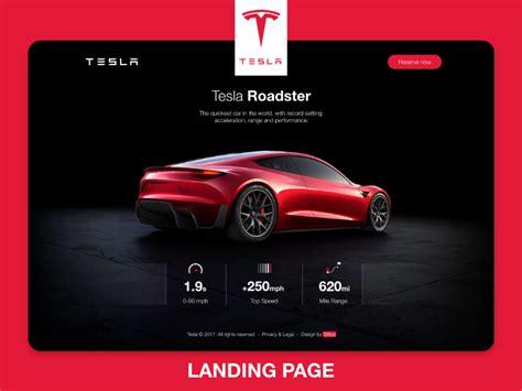 Tesla ROADSTER Landind Page | Tesla roadster, Tesla, Modern website design