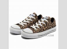 Brown CONVERSE All Star Leopard Print Rock N Roll Canvas
