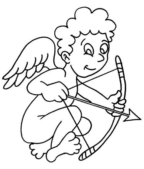 Kleurplaat Cupido by Valentijn Kleurplaten Cupido
