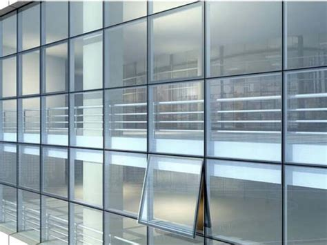aluminum curtain wall system  high rise building