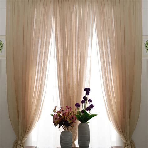 Romantic Beige Color Sheer Lace Curtains