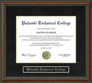 Midway College Diploma Frame with Hardwood and UltraSuede Matting
