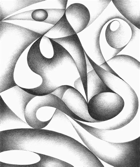 Abstract Black And White Images by Original Abstract Drawing Black And White Geometric Freehand