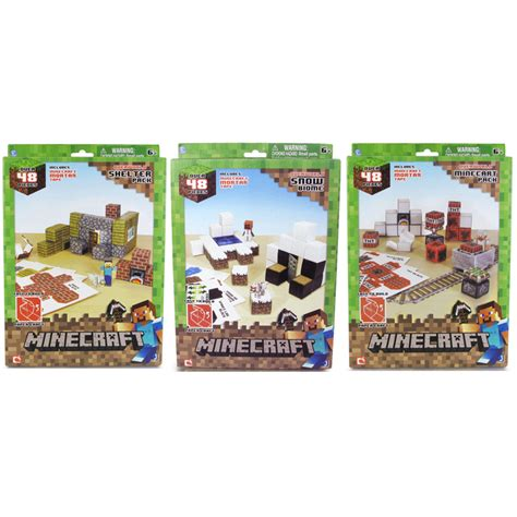 minecraft paper craft 48 piece set from character options