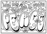 Graffiti Coloring Pages Adults Teens sketch template
