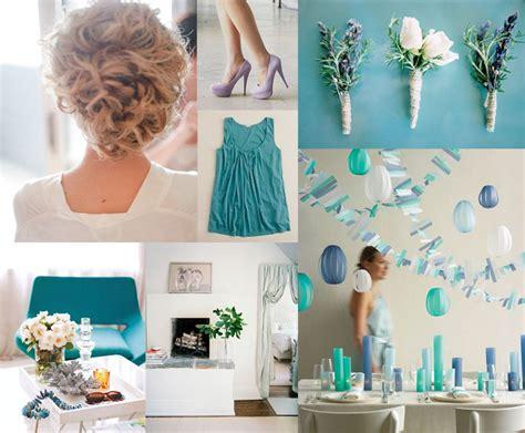 periwinkle teal wedding inspiration board