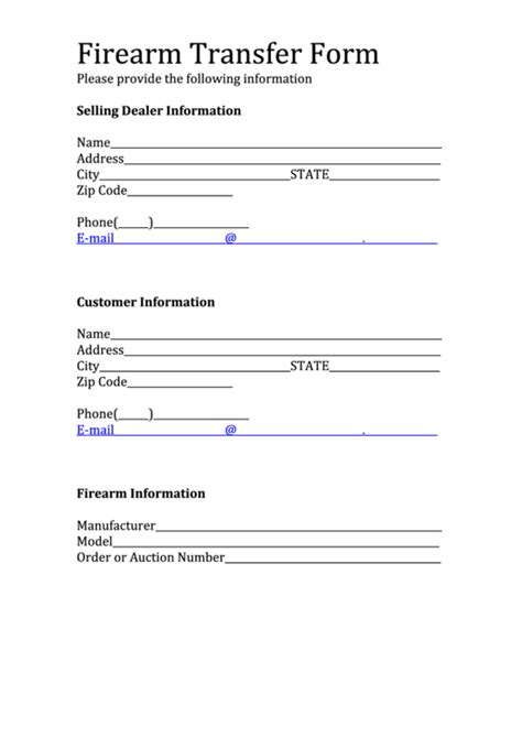 firearm forms canada 43 transfer form templates free to download in pdf