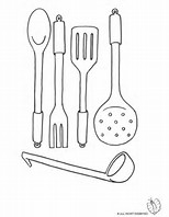 HD Wallpapers Coloring Pages Kitchen Utensils