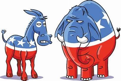 Donkey Elephant Republican Democratic Political Cartoon Vector