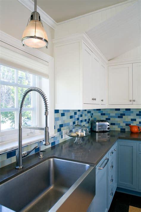 contemporary kitchen  blue cabinets hgtv
