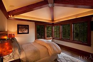 Crown Molding For Indirect Lighting Exposed Wood Hip Beams With Painted Wallboard Ceiling