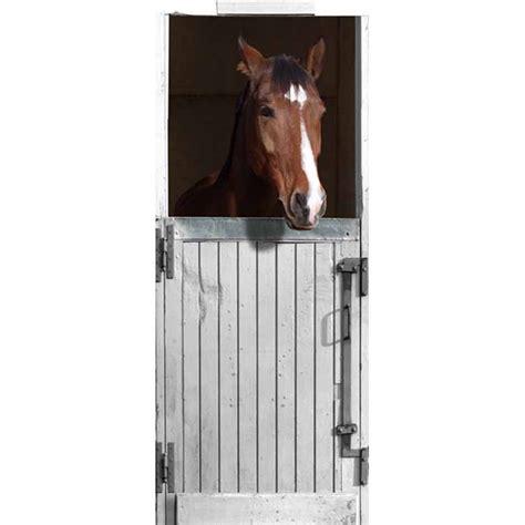 chambre garcon 4 ans stickers de porte quot box blanc pour cheval quot trompe l 39 oeil