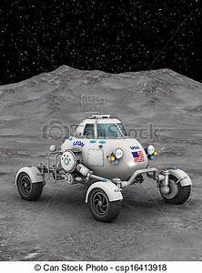 Clipart of space rover - image of space vehicle ...