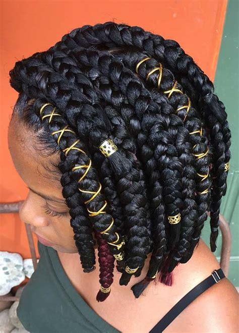 big box braids hairstyles  black hair page    stayglam