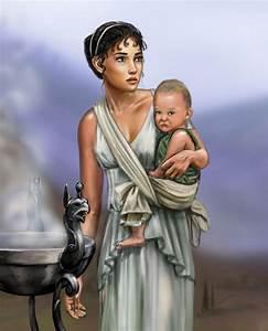 Greek woman and child by dashinvaine on DeviantArt