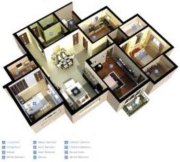 Photo Of Three Bedroom Homes Ideas by 25 Three Bedroom House Apartment Floor Plans