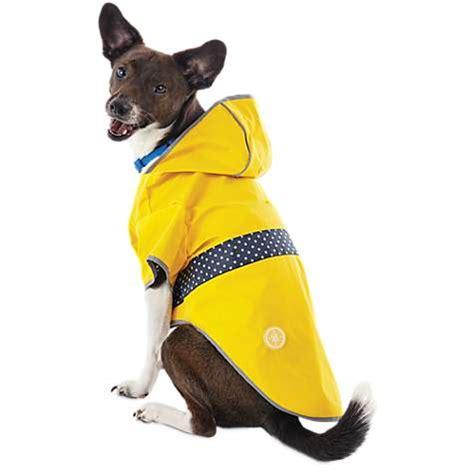 goodgo reversible dog raincoat  yellow petco