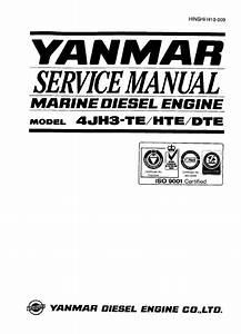 Yanmar Diesel Engine 4jh3 Hte  Dte Service Manual Pdf