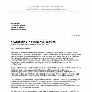 Bewerbung als produktionshelfer produktionshelferin for Bewerbung produktionshelfer pdf