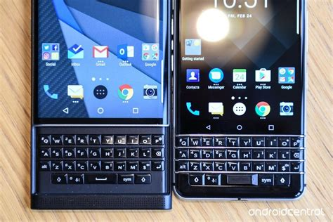 blackberry keyone vs blackberry priv lock stock and mobile android central