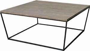 Table Basse Chene Gris : industry table basse en acier et chene gris 90x90 cm fabrication industrielle ~ Teatrodelosmanantiales.com Idées de Décoration