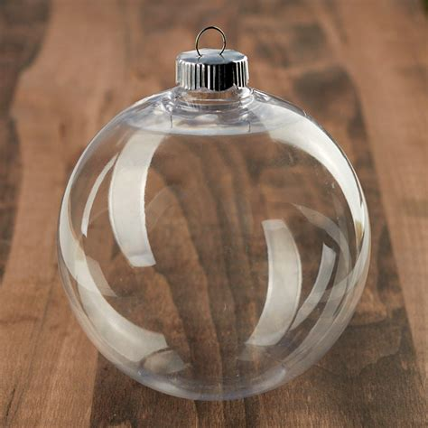 Clear Plastic Ball Ornament - Christmas Ornaments ...