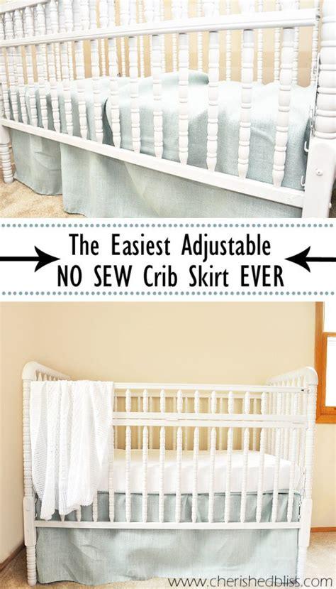 crib bed skirt the easiest diy crib skirt tutorial cherished bliss