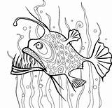 Coloring Seaweed Pages Fish Angler Between Kelp Drawing Template Getcoloringpages Cartoon Draw Place Tocolor sketch template