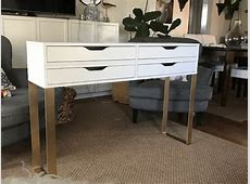 Modern Makeup Table with 4 drawers for storage IKEA