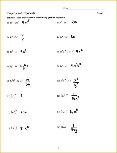 4 unit 7 exponent rules worksheet 2 answers fabtemplatez